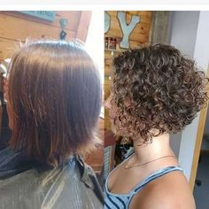 New Bob Haircuts 2019 & Bob Hairstyles 25 Bob Hair Trends for Women - Hairstyles Trends Wavy Bob Hairstyles, Haircuts For Curly Hair, Easy Hairstyles, Perms For Short Hair, Bob Haircuts, Spiral Perm Short Hair, Long Hair, Short Permed Hair Before And After, Perms Before And After