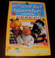 ROLAND RAT SUPERSTAR and FRIENDS ANNUAL 1984 Kids Tv, Rats, Superstar, Baseball Cards, Friends, Ebay, Amigos, Boyfriends