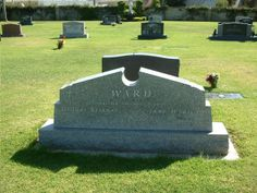 """Grave Marker- Jane Wyatt - Actress perhaps best known for her role as the housewife and mother on the television comedy """"Father Knows Best"""", and as Amanda Grayson, the human mother of Spock on the science fiction television series """"Star Trek"""". Wyatt was a three-time Emmy Award-winner."""
