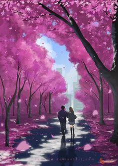 [Artwork] Màu hồng ngọt ngào và dịu dàng!