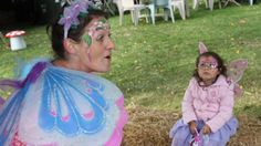 Visiting the Queen Fairy for a tale at Kids in the Park annual Easter Event in Burnie Park TAS, Pictures: Katrina Docking.
