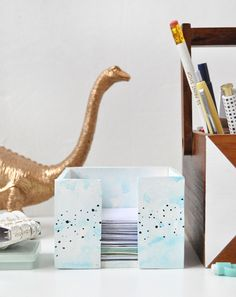 DIY Clay Desktop Paper Holder