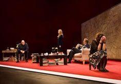 James Gandolfini, Hope Davis, Jeff Daniels, and Marcia Gay Harden - Broadway Production.