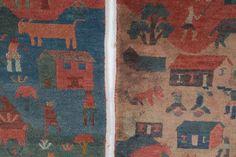 Two Tibetan Folk rugs, approx. 2 x 3 each