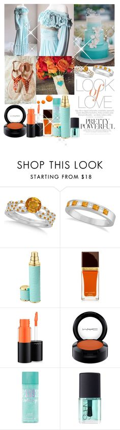 """""""Orange and Aqua Beauty"""" by niahedstrom ❤ liked on Polyvore featuring Allurez, Vince, Creed, Tom Ford, MAC Cosmetics, NARS Cosmetics and Topshop"""
