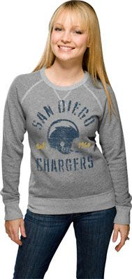 San Diego Chargers Heather Vintage French Terry Women s Crewneck Sweatshirt  Redskins Apparel 8a3270172