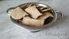 Ethique: RAW pohankovo-lněné krekry Dehydrator Recipes, Bread, Snacks, Vegan, Breakfast, Health, Food, Morning Coffee, Appetizers