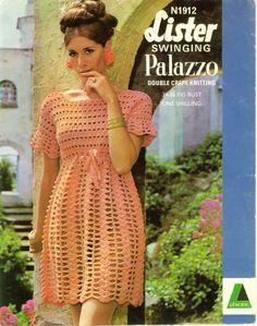 Crochet- Vestido Vintage Rosa