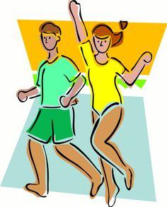 Image for Men and Women Running Health Clip Art