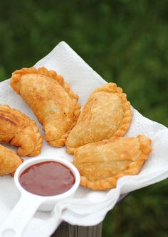 empanadas with guava sauce. the sauce also goes great with plantain chips. (: