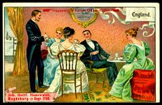 https://flic.kr/p/icz8GD | German Tradecard - Coffee Drinkers | Kaiser-Otto Coffee, Magdeburg, Germany ~ Coffee Drinkers c1910 ~ England
