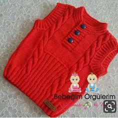 Knitwear for many years has lengthy been trendy. Knitwear is extraordinarily numerous. Kids Knitting Patterns, Baby Sweater Knitting Pattern, Knit Vest Pattern, Knitted Baby Cardigan, Knit Baby Sweaters, Knitting For Kids, Knitting Designs, Baby Patterns, Free Knitting