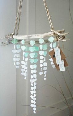Hey, I found this really awesome Etsy listing at https://www.etsy.com/listing/192005520/mini-v-shape-sea-glass-mobile-made-to