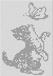 Resultado de imagem para cats crochet filet