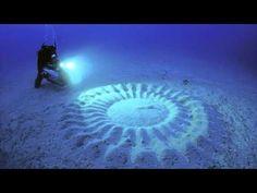 Circles at the bottom of the sea made by globe fish. Circulos en el fondo del mar hechos por pez globo. - YouTube