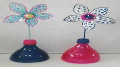 Flor con botellas de plastico recicladas DIY flower with plastic bottle ...