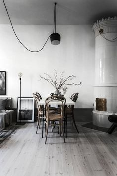 Could you go grey like this fab (small) Swedish apartment?