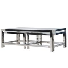 dbb4ac562530c Buy the Terano Set Of 3 Glass Top Coffee Tables with free delivery from  Turnbull and Thomas