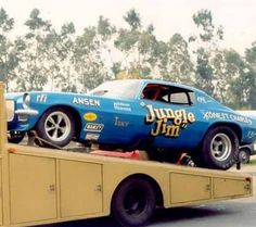 Early Private Years With No Sponsor's. Always Remembered This Tow truck. Funny Car Drag Racing, Nhra Drag Racing, Funny Cars, Auto Racing, Blue Camaro, 70 Camaro, Jungle Jim Liberman, Lightning Aircraft, Jungle Jim's