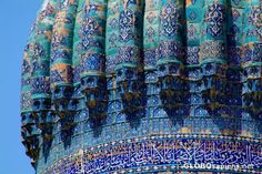 Samarkand an ancient city in the southern Uzbekistan which was a key trading post along the Great Silk Road, is over 2,500 years old. It was also the political centre of the Temurids dynasty, who built the remarkable monuments - mosques, madrassahs (Islamic schools - most actually were universities) and mausolea. Some of them are architectural masterpieces,