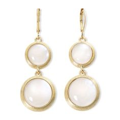 Monet® Gold-Tone White Shell Double Drop Earrings   found at @JCPenney