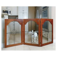 Found it at Wayfair - Chapman Free-Standing Pet Gate in Cherryhttp://www.wayfair.com/daily-sales/p/Must-Haves-for-the-Modern-Pet-Chapman-Free-Standing-Pet-Gate-in-Cherry~MPP1555~E13645.html?refid=SBP.rBAZEVQJ-GCVOAmwdt1zAmS_h3aT2kdRnxoPMtPWc1s