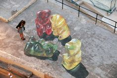 Malta Gummy Bears – Artist Leon Keer Created 3D Art for Malta Street Art Festival | WideWalls
