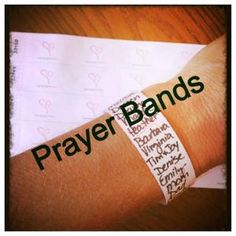 Prayer series idea. Kids wear all week as reminder to play - use for pray always lesson, i.e. around the clock, with perseverance. by estella