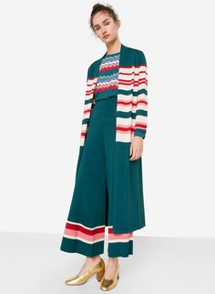 Uterqüe United Kingdom Product Page - Ready to wear - Knitwear - View all - Long striped cardigan - 115