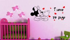 Some Inspiring Cute Minnie Mouse Wall Decals Ideas for Baby Girls