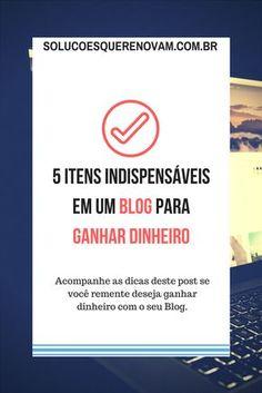 Aqui estão reunidos os itens que considero indispensáveis para quem cria um blog para ganhar um bom dinheiro. Está pensando em criar um blog? Por que não ganhar dinheiro com ele, então? Aplique estas dicas e com o tempo você verá ótimos resultados.