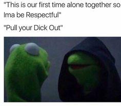 Evil Kermit meme LMAO