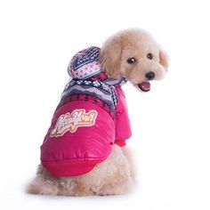 Waterproof Dog Clothes Snowflake pet dog costume dog Coat pet clothes jacket Hoodie For Dog