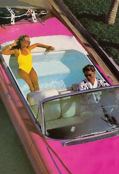 Let's car pool. Only because it reminds me of the barbie car I begged my parents for with the jacuzzi in the back. Let's car pool. Only because it reminds me of the barbie car I begged my parents for with the jacuzzi in the back. Barbie And Ken, Aesthetic Vintage, 90s Aesthetic, Aesthetic Fashion, Sport Cars, Vs Sport, Aesthetic Pictures, Pretty In Pink, Cool Stuff