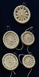 A selection of Dorset Buttons - thread wrapped rings