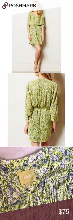 """Anthropologie Maeve Dress Anthropologie Maeve """"Ray of Sunshine"""" dress! The cutest dress!!! Beautiful coloring and details. Anthropologie Dresses Midi"""