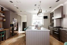 Grey tones and cabinetry in kitchen