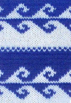 Contrast jacquard - traditional Norwegian jacquard, which was used for knitting warm sweaters. Knitting Help, Knitting Stitches, Knitting Patterns, Knitting Ideas, All Free Crochet, Knit Crochet, Fair Isle Knitting, Lace Patterns, Knitting Projects