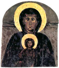 Maestro della Croce 434 (Coppo di Marcovaldo?) - Madonna di Rosano - prima metà del Duecento - Monastero di Santa Maria a Rosano (Rignano - Firenze)