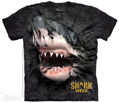 Shark Week Breakthrough Black T-Shirt - The Mountain - Adult - starting at  $19.99  Shop where every purchase helps shelter pets!