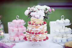 I LOVE the simple, homemade cake. The bride of this laid back Norwegian wedding crafted her own dress and baked the cake herself.