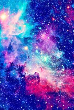 Iphone 5, 5s, 6, or 6+ wallpaper. Galaxy, aesthetic, tumblr, blue. Pink, purple