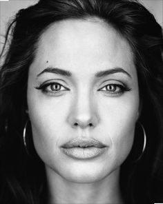 """The only portrait I've seen of Angelia without a her """"Angelina Jolie"""" mask on. By Martin Schoeller Martin Schoeller, Angelina Jolie Fotos, Angelina Jolie Pictures, Brad And Angelina, Brad Pitt, George Hurrell, Celebrity Photography, Celebrity Portraits, Famous Portraits"""