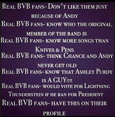 "I do not know the past members but Lightning Thunderstein for president? HECK YEAH<<<yeah I don't know them too but also this doesn't define a ""real BVB fan"" some ppl like them just for their songs Black Veil Brides Andy, Black Viel Brides, Jake Pitts, Andy Biersack, Vail Bride, We Are The Fallen, Bvb Fan, Andy Black, Band Quotes"