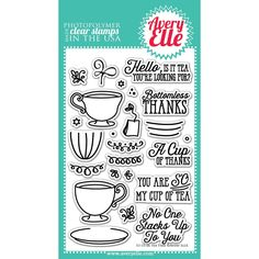 Avery Elle Clear Stamp Set 4inX6inTea Time
