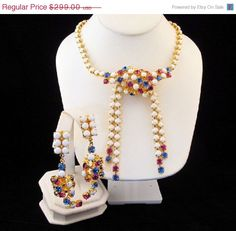 Gianni De Liguoro Couture Necklace by GrapenutGlitzJewelry on Etsy