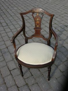 Edwardian Chair Edwardian Style, Edwardian Fashion, Edwardian Architecture, Old Furniture, Downton Abbey, Nice Things, French Country, Colonial, Steampunk