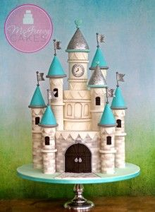 Tartas de Cumpleaños - Birthday Cake - How to make a castle cake FREE video tutorial!