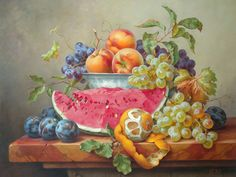 Still Life with Watermelon Gabor Toth, Hungarian artist