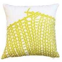 Knitting Chartreuse  www.mayamusetextiles.com.au